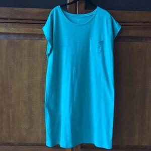 Garnet Hill Cap sleeve T shirt dress